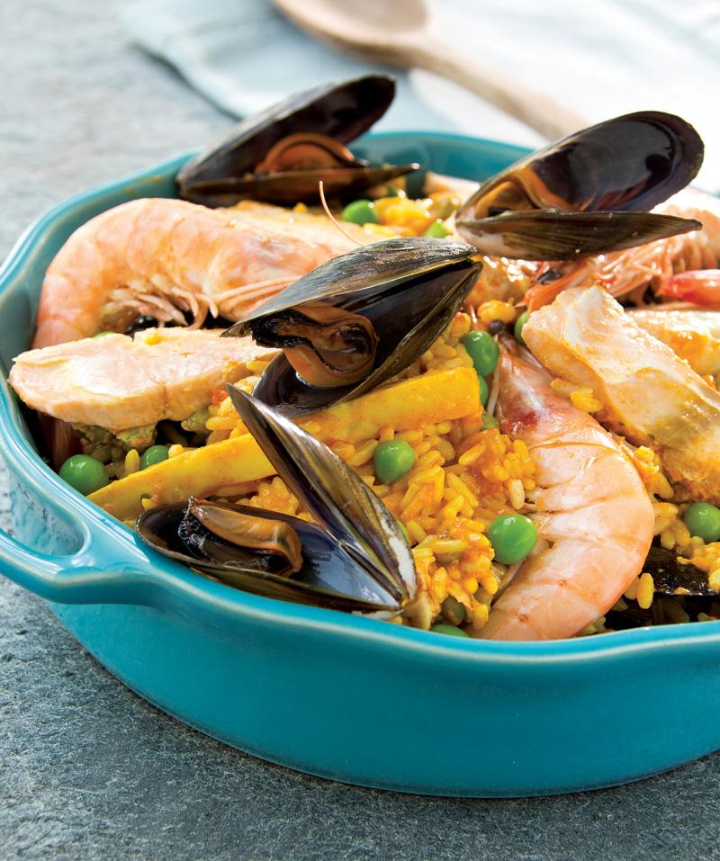 paella, plats cuisinés, traiteur, plats préparés, auvergne maree,